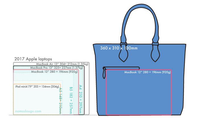 Galleriant ビジネストート GEQ-3800サイズ感